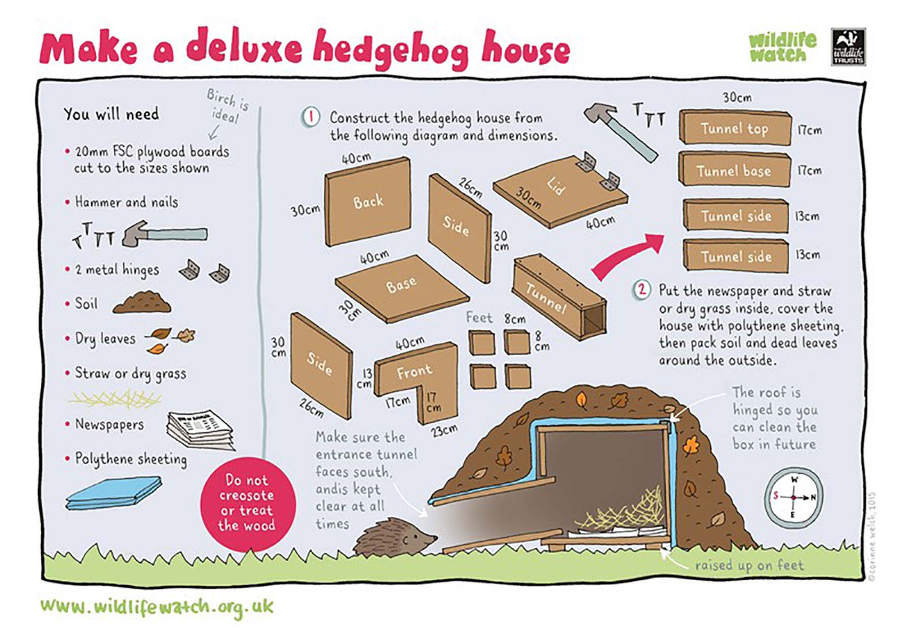 Make a hedgehog house